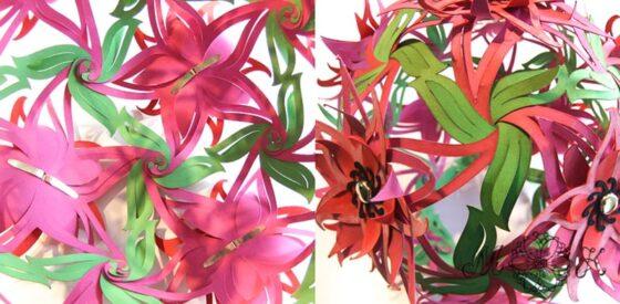 Blumenkugel - Verbindungsstellen innen und außen