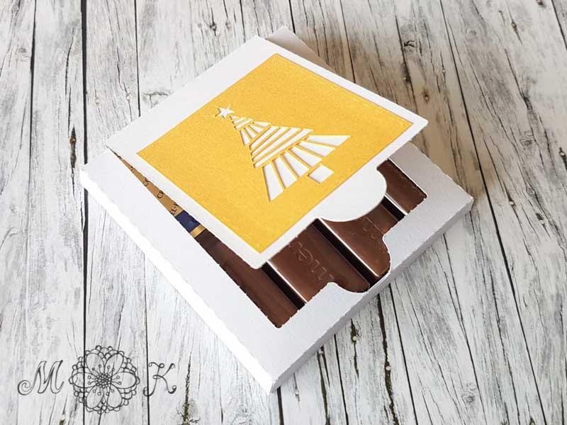 Schoki-Verpackung passend für merci - halb offen -miriamkreativ