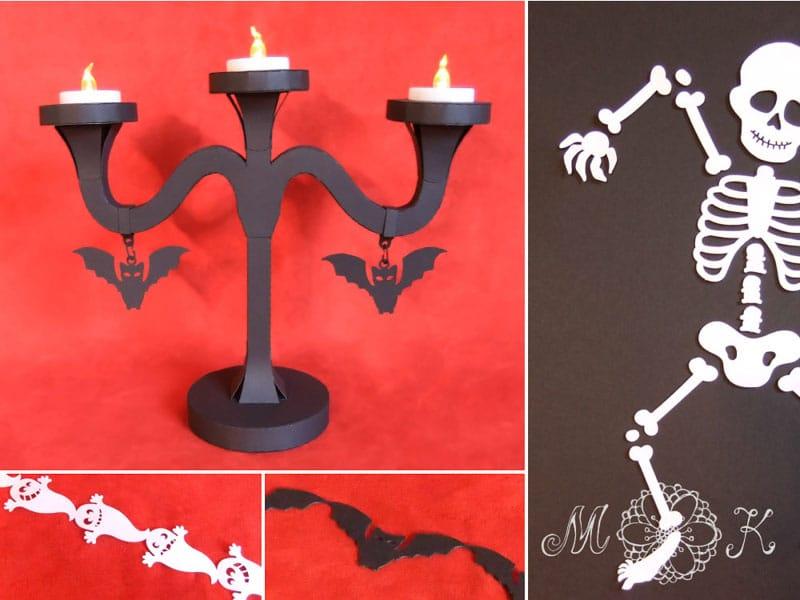 plotterdatei en halloween party set. Black Bedroom Furniture Sets. Home Design Ideas