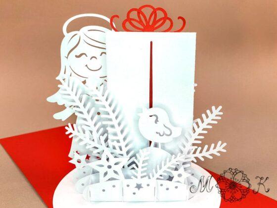 Plotterdatei Weihnachtskarte Gutschein (offen von hinten)