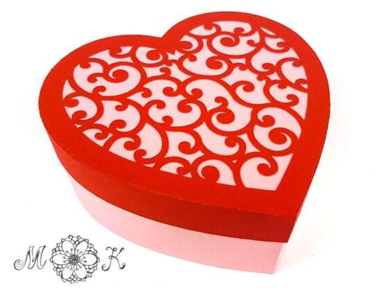 Plotterdatei Herdose mit Schnörkel-Deckel Verpackung zu Valentinstag, Muttertag, Hochzeit (geschlossen) - miriamkreativ