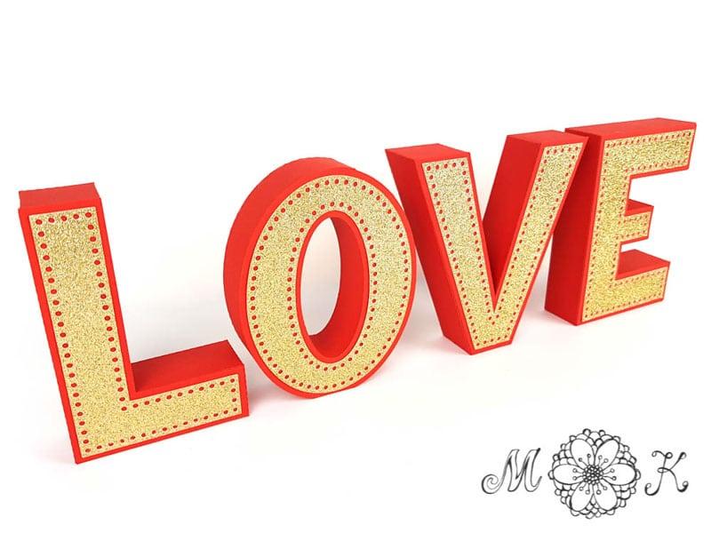 Plotterdatei Deko Schriftzug Love Miriamkreativ De
