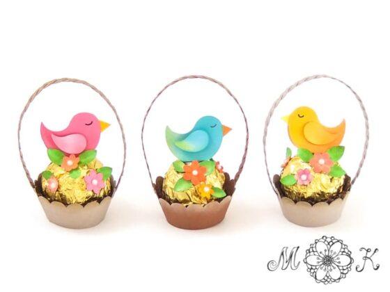 Plotterdatei Mini-Nest mit Vögelchen (in 3 Farben umgesetzt)