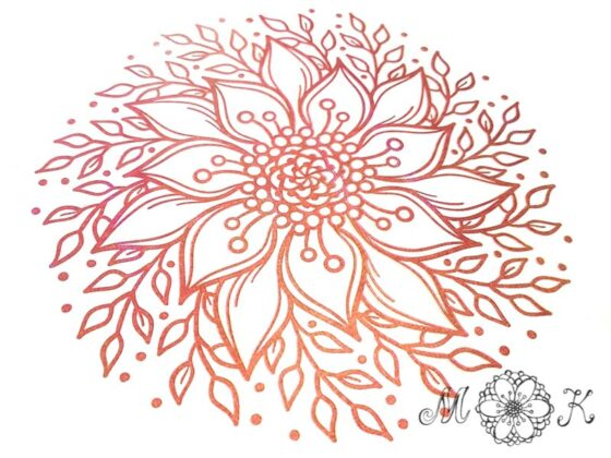 Plotterdatei Blumen Doodle (5) - filigranes Blumenmotiv - miriamkreativ