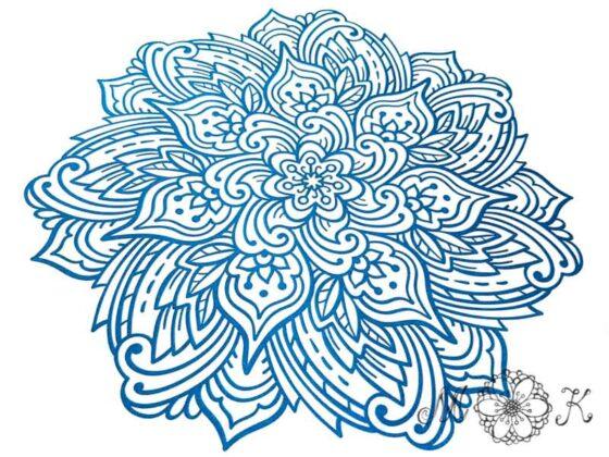 Plotterdatei Mandala mit floralen Elementen