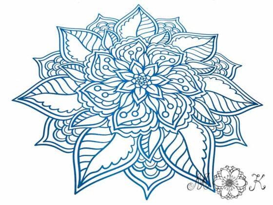 Plotterdatei florales Mandala-Doodle