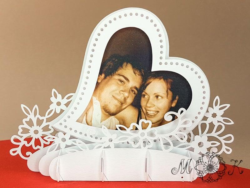 Bastele Diese Herzige Pop Up Hochzeitskarte Inkl Plotterdatei Svg