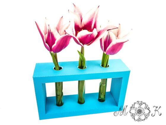 Reagenzglas-Vase (für 3 Blumen)