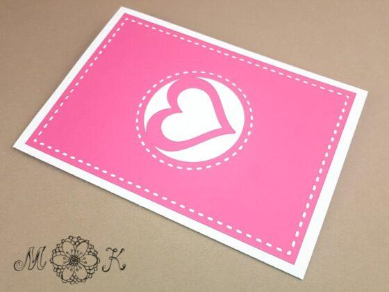 Pop-up-Karte Mama ist die Beste (geschlossen) - umgesetzt in pink und weiß