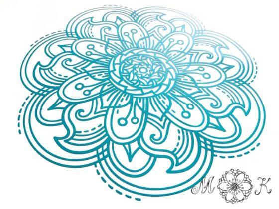 Plotterdatei Mandala (SVG & DXF) - geplottet aus Flex-Folie