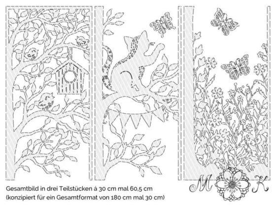 Frühlings-Türdekoration XXL (geteilt in 3 Teile)