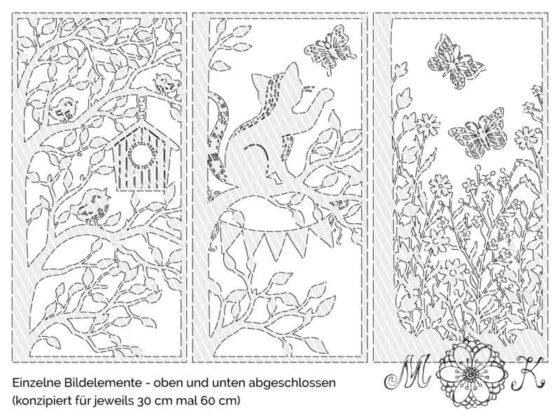 Frühlings-Türdekoration (Einzelbilder)
