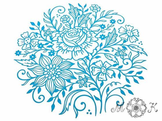 Plotterdatei Blumen-Doodle (6) - Version 1