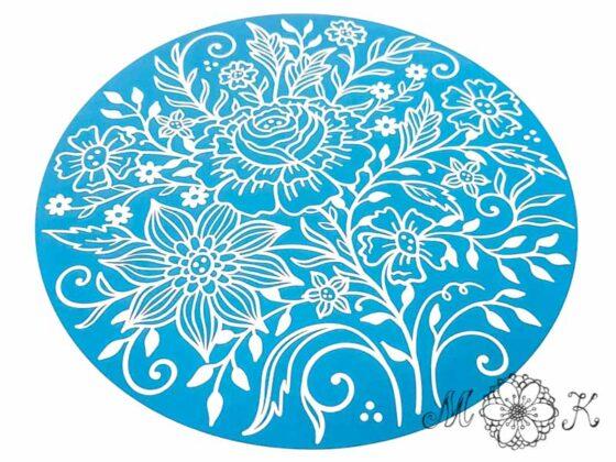 """Plotterdatei Blumen-Doodle (6) - Version 2 (""""negativ aus Kreis"""")"""