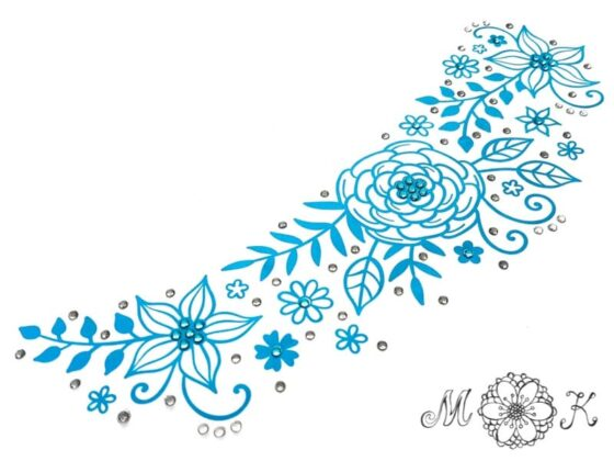 Plotterdatei Blumenranke mit Strass