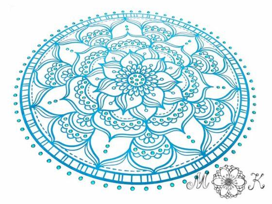 Plotterdatei Mandala mit Strass (Nummer 10)