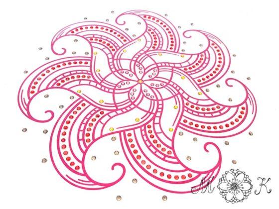 Plotterdatei Mandala-Doodle mit Strass