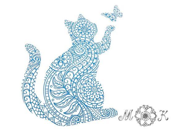 Plotterdatei Katzen-Doodle (SVG und DXF)